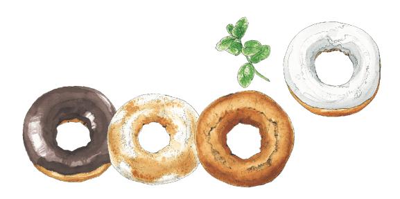 4つのドーナツ