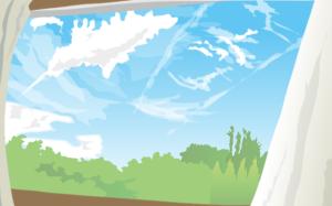 雲のイラスト 教材図版