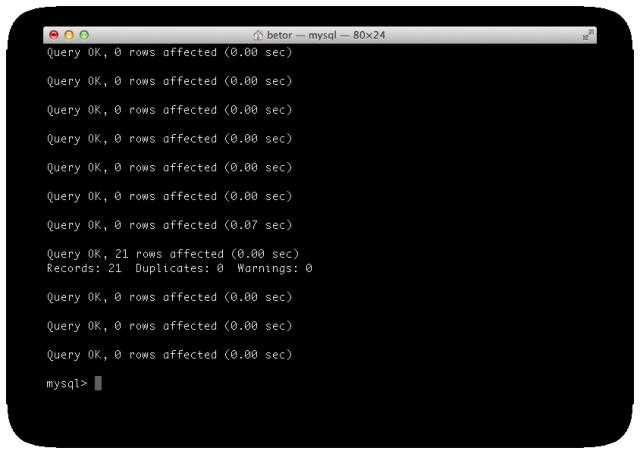 ターミナルでsqlファイルをインポートする5
