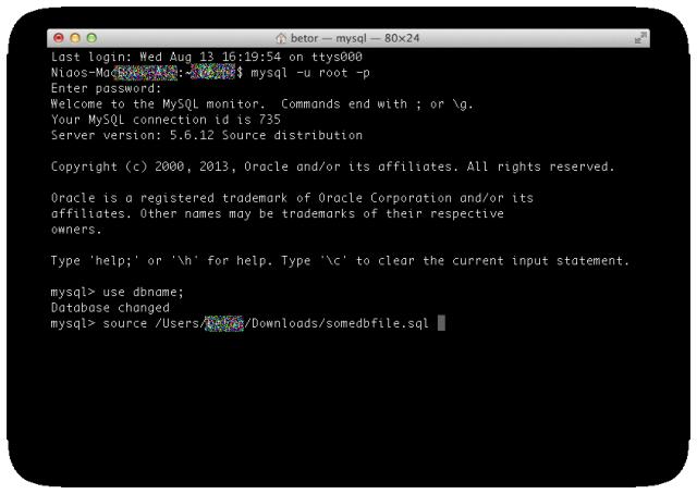 ターミナルでsqlファイルをインポートする4