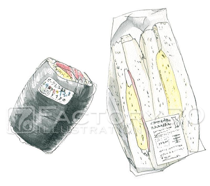 石垣島のスパムおにぎりとサンドイッチ