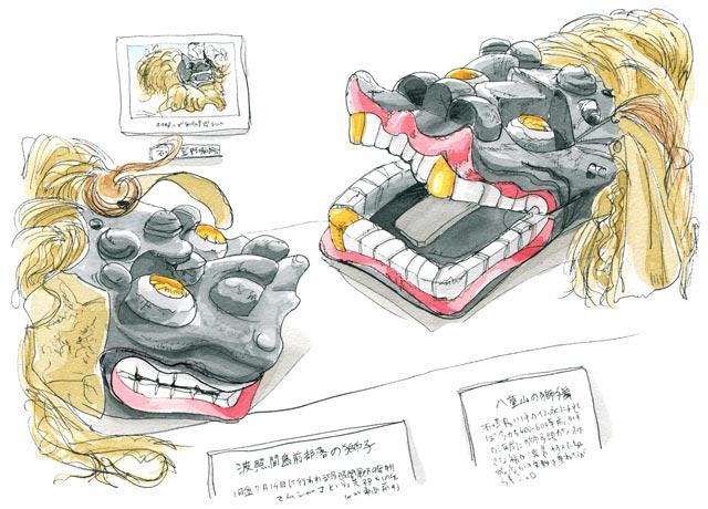 八重山博物館の獅子舞