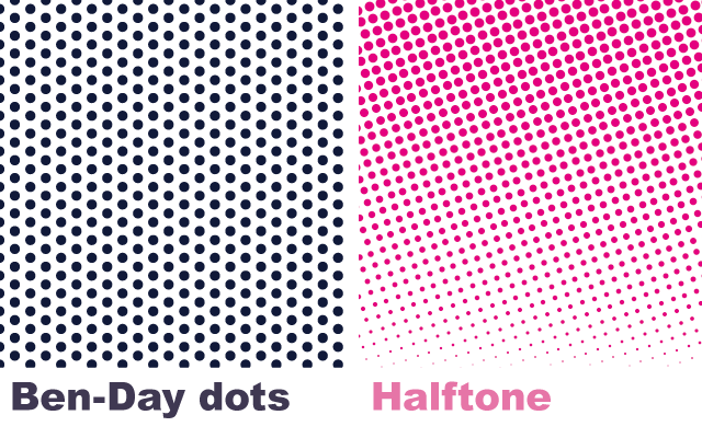Ben-Day dots and Halftone