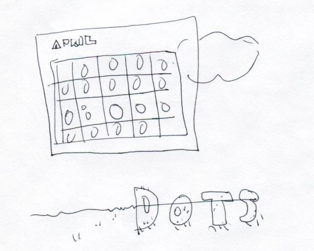 イラスト制作 ラフスケッチの例1