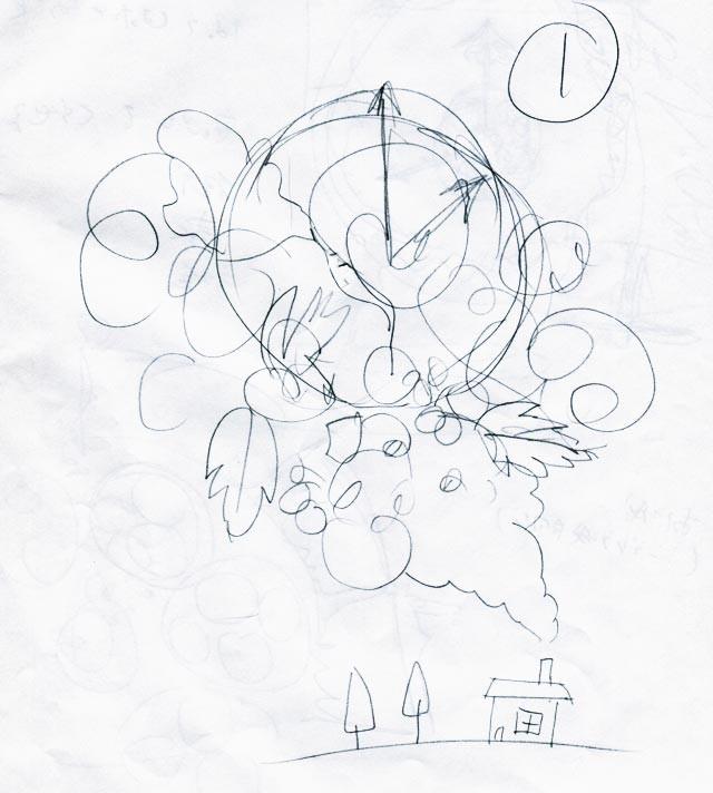 イラスト制作 ラフスケッチの例5