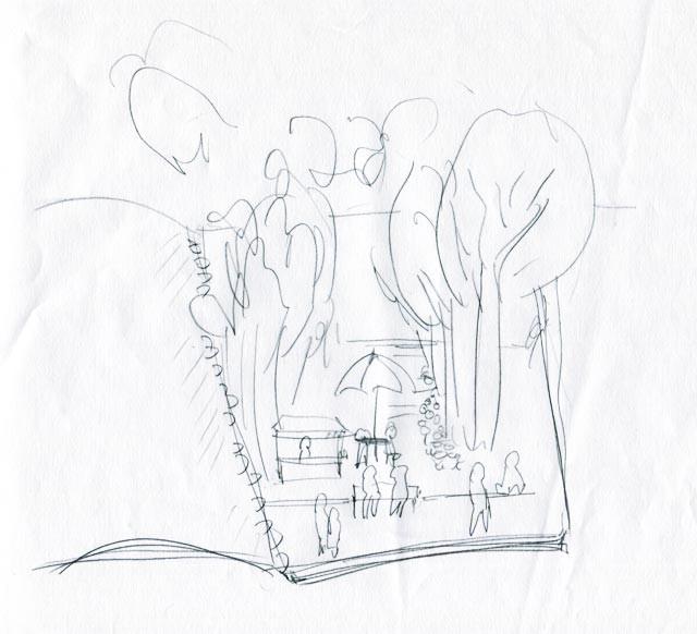 イラスト制作 ラフスケッチ/アイデアスケッチの例7