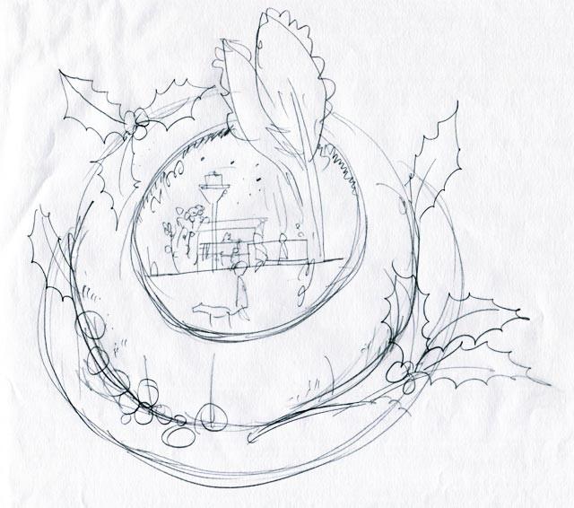 イラスト制作 ラフスケッチ/アイデアスケッチの例8