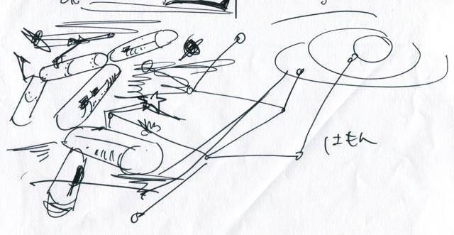 イラスト制作 ラフスケッチ/アイデアスケッチの例9
