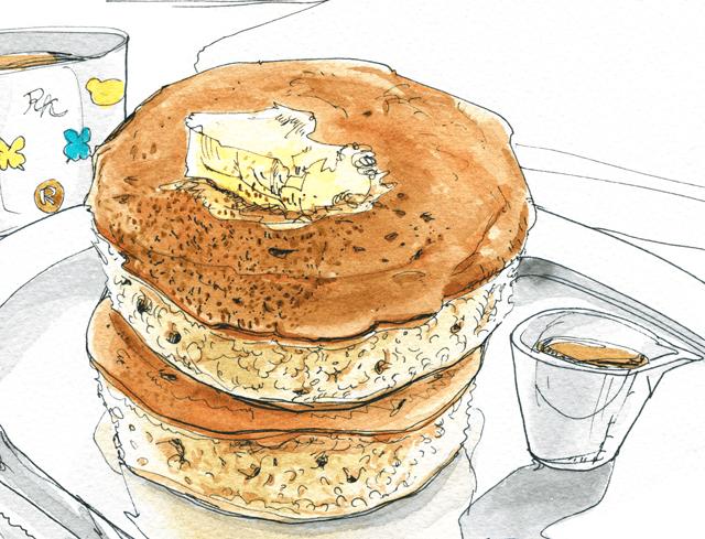 バナナパンケーキの作り方 イラストレシピ (5)