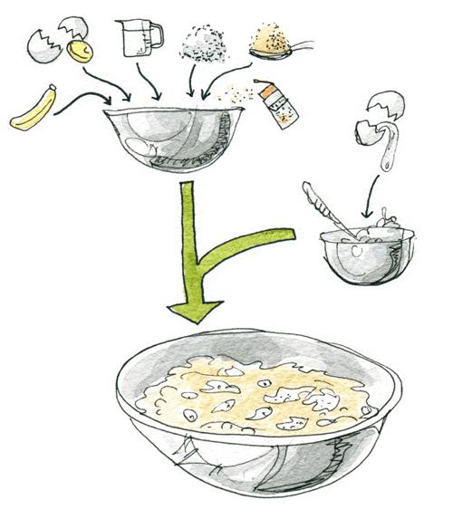 バナナパンケーキの作り方 イラストレシピ (2)