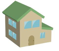 3Dツールで家のイラストをかんたんに描く