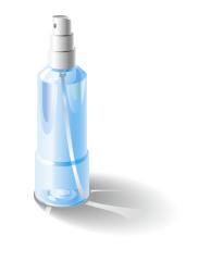 グラデーションメッシュを使わずにスプレーボトルのイラストを描く