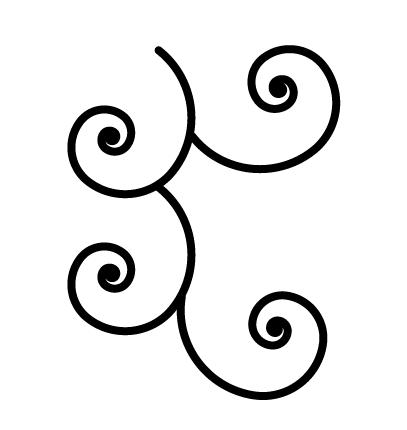 唐草文様のパターンスウォッチの作り方 スパイラルツール