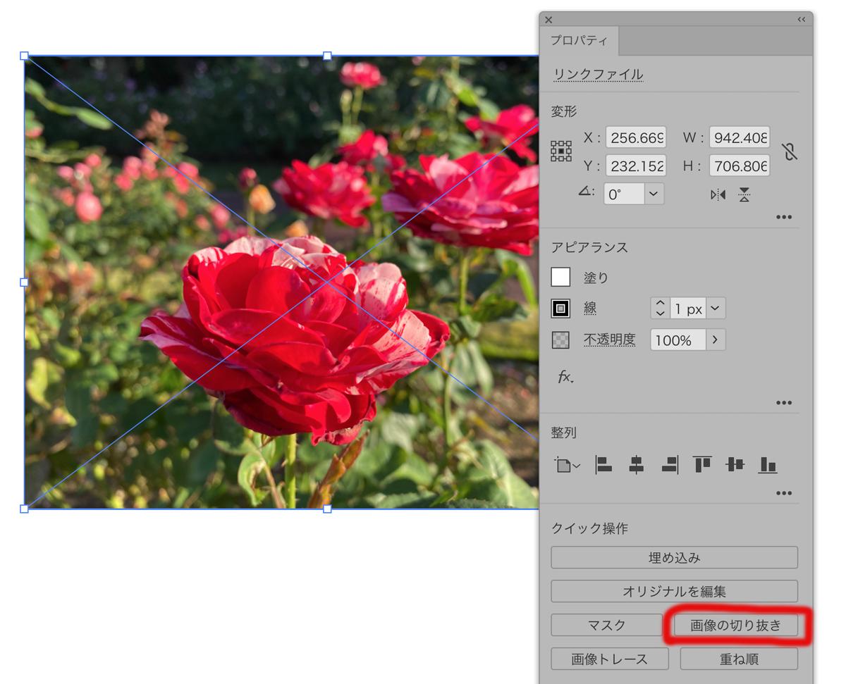 Adobe Illustratorで画像の切り抜き(トリミング)