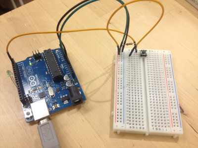 ArduinoでHello World配線