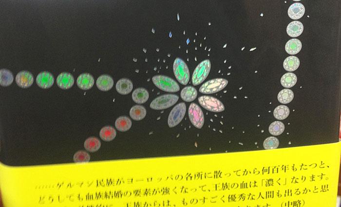 きらきらな装丁の本(裏)