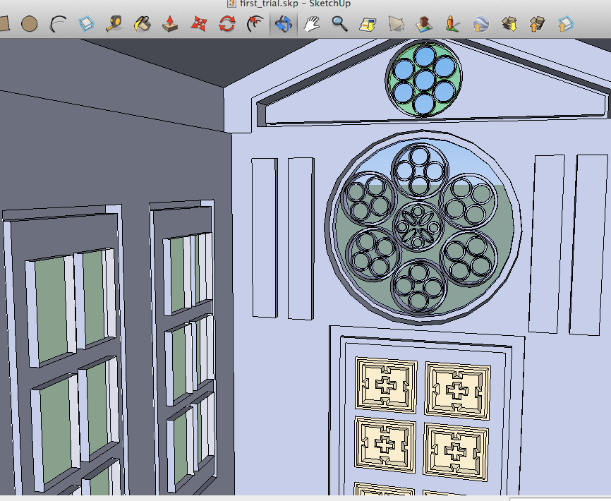 SketchUpで作った教会ぽい建物を内側から見てみた