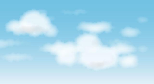 Illustratorで雲を描く