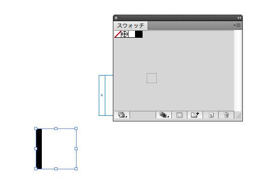 ピンストライプのスウォッチ原型