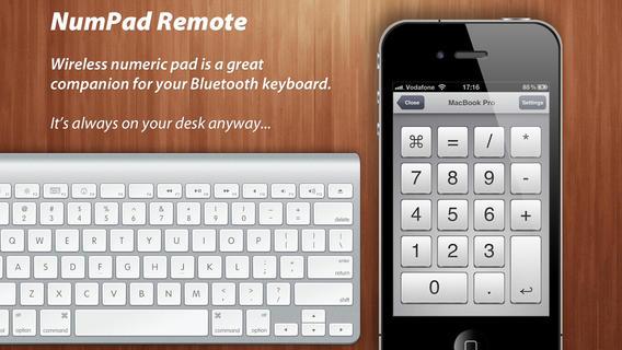 iPhoneがテンキーの代わりになるアプリ NumPad Remote