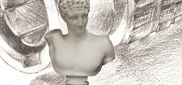 石膏増とデッサンのイメージ